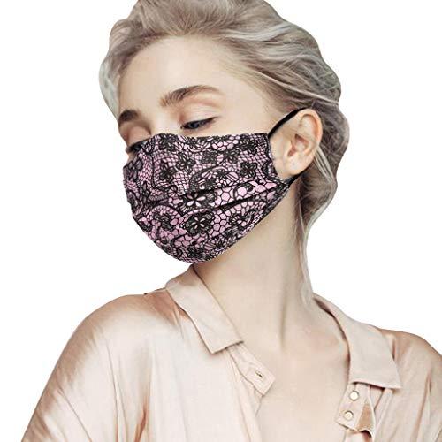 Wokee Adulto protección Bucal con Filtro De Pcs Escudo Facial Bufanda Multifuncional Bufanda Lavable y Reutilizable Bandana Bufanda Respirable Ajustable (100pcs Rojo)