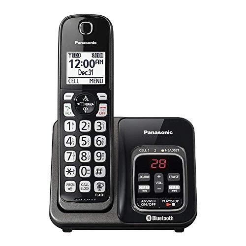 Panasonic KX-TGD560M / KX-TG3760M Link2Cell Cordless Telephone with Digital Answer Machine (Renewed) (KX-TGD562M -1 HANDSET)