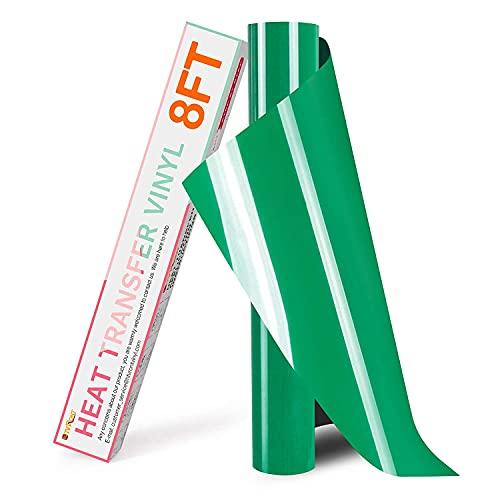 Plotterfolie Textil - 30.5cm x 244cm Grün Flexfolie zum Aufbügeln auf T-Shirt(Grün)