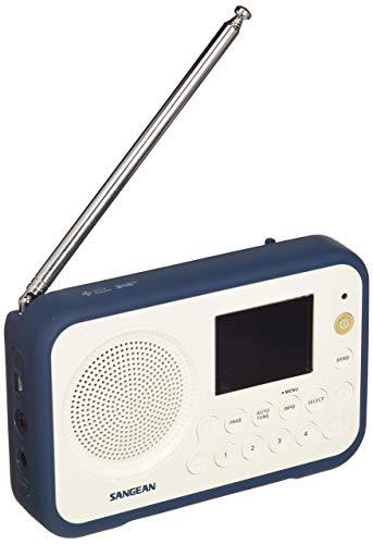 Sangean DAB+ Kofferradio DPR-76 UKW wiederaufladbar Weiß, Blau