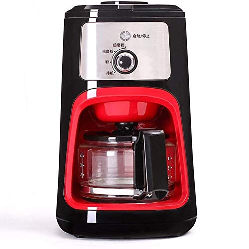 DWLXSH Espressomaschine, Kaffeevollautomat, 600ML Filter Kaffeemaschine mit Kaffeemühle und GlasCarafe Grinder