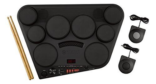 Yamaha DD-75 Batteria Elettronica Portatile, 8 Pad Dinamici, 570 Suoni in 75 Kit, Modalità Percussione con 105 Canzoni, Funzione di Registrazione, Compatibile con Cuffie, Nero