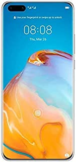 "HUAWEI P40 Pro Smartphone 5G, 6.58"" Display, 8 GB RAM, 256 GB Memory, Dual SIM - Silver Frost"