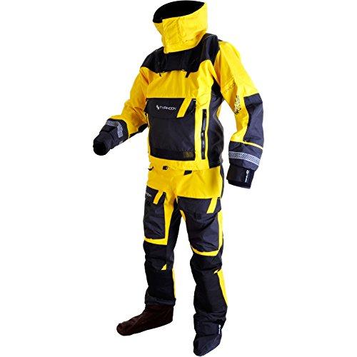 Typhoon 2017 Mens PS330 Kayak/Ocean Drysuit + con Zip + Fleece Yellow/Black 100160