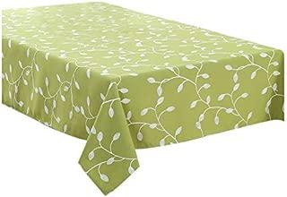Tablecloths - Polyester Tablecloth Leaf Table Cover Green Bottom White Leaves 90 90cm - Oblong Jurassic Modern Restaurant Holder Mats Shower Little Elegant Clips Dinning Blue Yellow Spide