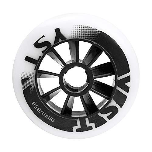 TGHY 2 Piezas Rueda Pro Stunt Patinete 90mm 100mm 110mm Rueda de Patinaje de Velocidad para Patines en Línea Rueda de Repuesto de PU 85A para Patineta para Niños,Blanco,110mm