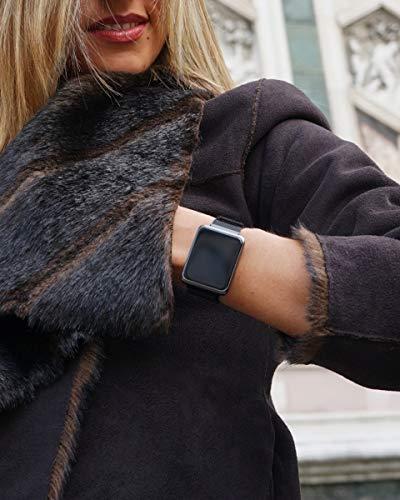 Florence Marlen FM1S Nápoles | Diseñado en Italia | 2 Correas |Smartwatch Hombre-Mujer Malla Milanesa Negra |Reloj… 8