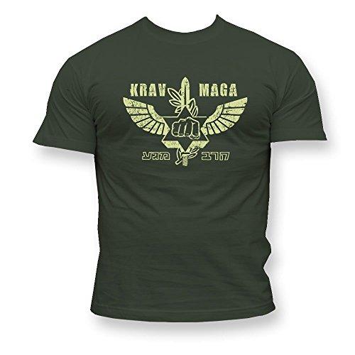 Dirty Ray Artes Marciales MMA Krav Maga Camiseta Hombre T-Shirt K49 (XXL)