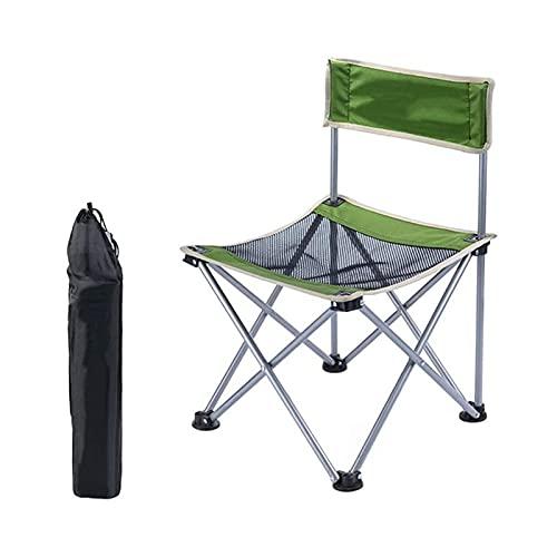 Tolalo Silla de camping, ultraligera, portátil, compacta, plegable, con bolsa de almacenamiento, resistente al desgarro, para excursión, camping, fiesta de playa