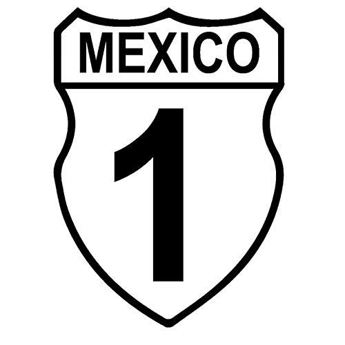 BDDLLM Autoaufkleber 11,6 x 16 cm Baja Estrada Mexiko Originalität Auto-Stil Autoaufkleber schwarz/Silber Vinyl Aufkleber S8-0534Schwarz