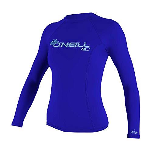 O'Neill Wetsuits Damen Basic Skins Long Sleeve Rash Guard T-Shirt, Tahitian Blue, M