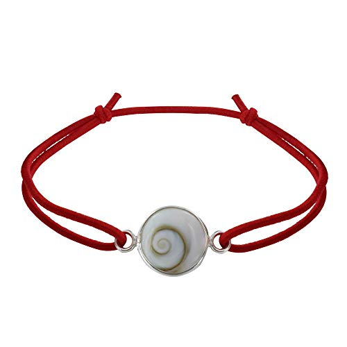 Gioello Les Poulettes - Bracciale Elastico Occhi di Santa Lucia Tondo - Rosso