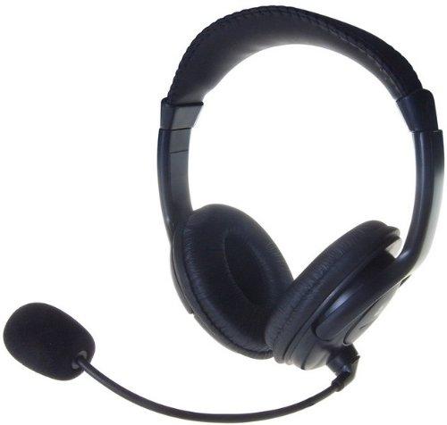 Computer GEAR Multimedia stereo headset met microfoon – zwart
