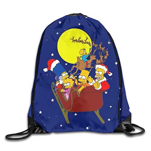 Dfhrtgre Simpsons Kordelzugbeutel, Sportsack, Rucksack, Polyestergewebe, faltbar, für Schule, Fitnessstudio, Büro, Reisen.