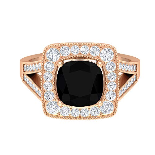 Rosec Jewels 18 quilates oro rosa Round Brilliant Moissanite