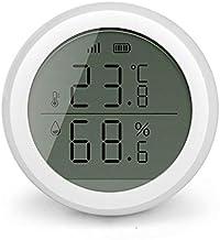 Higrómetro Smart Home WiFi Detector de calor de temperatura inalámbrico Detector de calor inteligente Solicitud de control de la temperatura del hogar Sensor de humedad con pantalla LCD Térmometros de