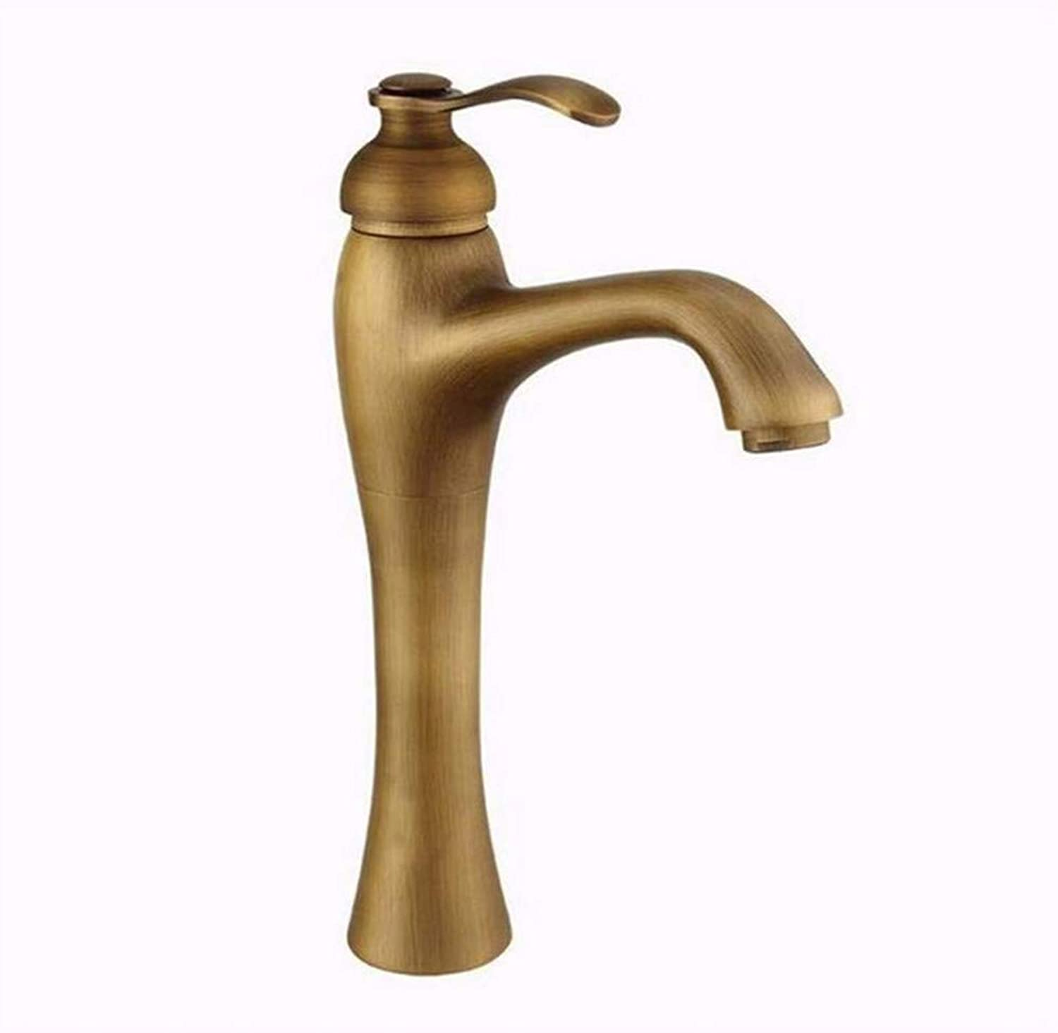Luxury Plated Mixer Faucet Bathroom Sink Mixer Tap Faucet European Retro Style Copper Basin Hot and Cold
