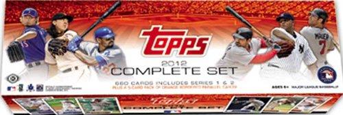 2012 Topps Baseball Factory Sealed HOBBY Version Set with 5 Bonus Orange Parallel Cards