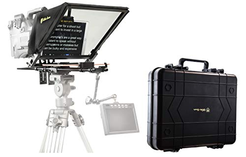 "Glide Gear TMP 750 17"" Professional Video Camera Tablet Teleprompter 70/30 Beam Splitting Glass with Hard Protective Carry Case"