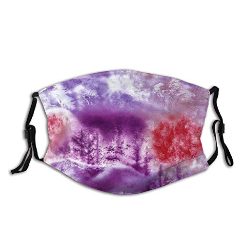 Masks,Face Cover Garden Tree Painting Balaclava Unisex Reusable Windproof Anti-Dust Mouth Bandanas Outdoor Camping Motorcycle Running Neck Gaiter with 2 Filters for Teen Men Women