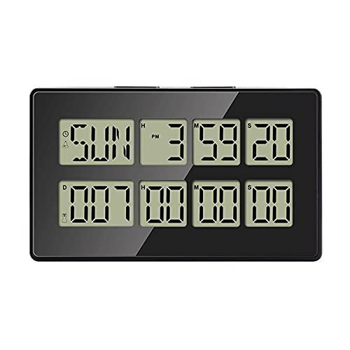 LifBetter Temporizador digital magnético para cocina incubación cuenta regresiva estudio cronómetro LED contador alarma recordar siete colores retroiluminación