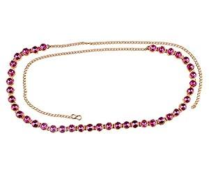 Single Kundan Line Stone Small Designer Kamarband/Bellychain/kamarpatta/ottiyanam/vaddanam/Waist Hip Belt -Rani