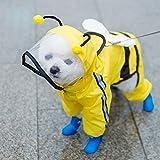 wsy Chubasquero para Mascotas, Impermeable De Cuatro Patas, Transpirable, Cómodo E Impermeable, Poncho Todo Incluido, Ropa De Lluvia para Mascotas, Perros Pequeños Y Medianos-Green||3XL