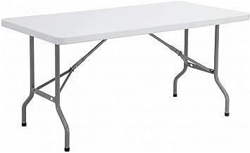 طاولة أبيض خفيف بإمكانها أن تطوي، 1.8 متر، تستعمل في داخل أو خارج البيت