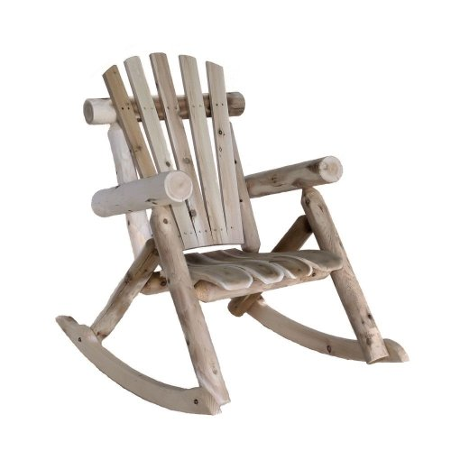 Mills Cedar Log Rocking Chair, Natural