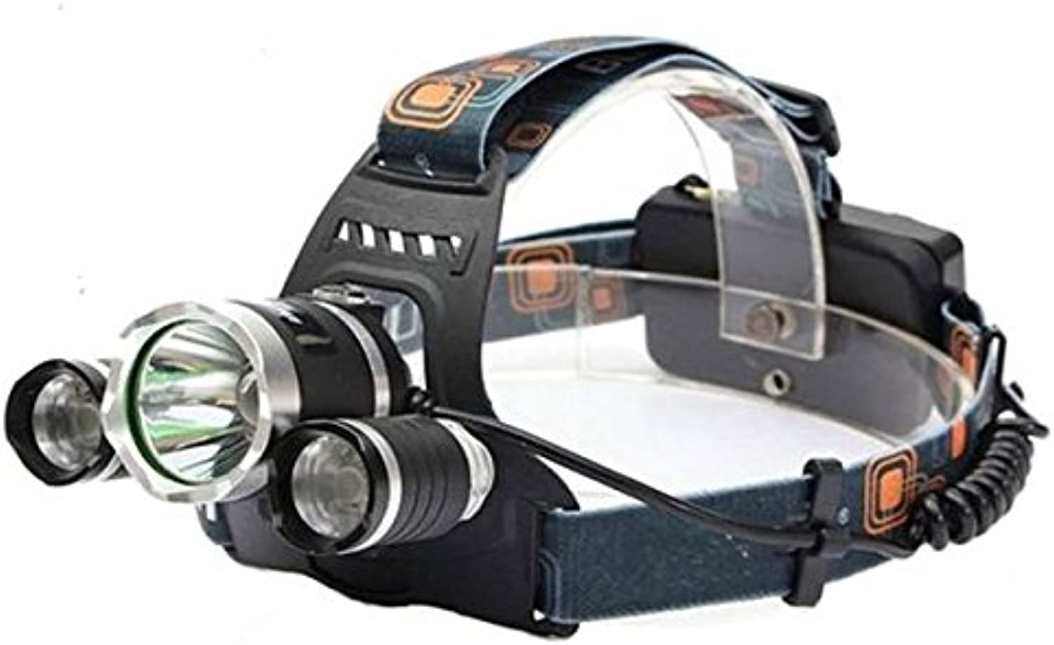Pink Lizard XM-L T6 LED Bicycle Light 3T6 Rechargeable Headlamp Headlight Torch 4 Modes With Rechargeable 18650