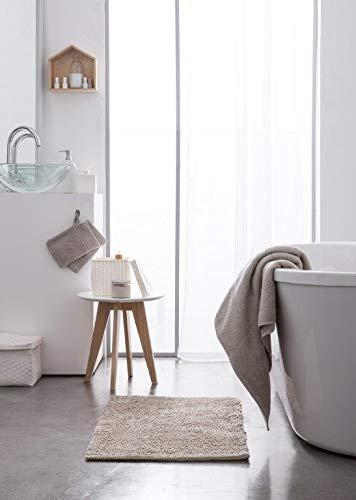 Today serviettes de Toilette Coton, Gris Clair, 90x50 cm
