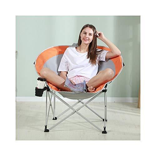 HongTeng-Lazy Sofa Leniwy kanapy Krzesło Krzesło Składane Krzesło Home Outdoor Leisure Krzesło Przenośne Oxford Tkaniny Materiał 94 × 86 × 89 cm (Color : Orange)