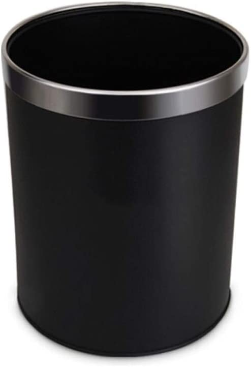 Max 51% OFF dxzsf Trash Can Genuine Stainless Steel Classic Ca Black