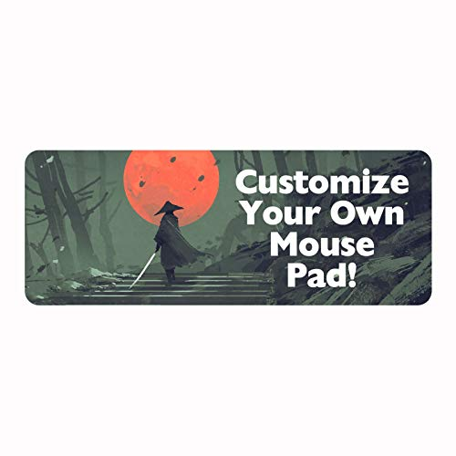 Personalized Professional Gaming Mouse Pad - Add Photo Text or Logo and Make Your own Customized Mousepad - Extra Extended Large Mousepad with Stitched Edges - Desk Pad Keyboard Mat - 31.5 x 12 in