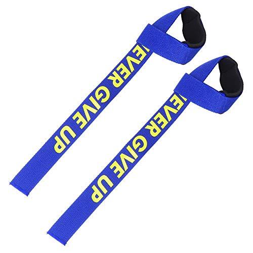 Tihebeyan 1 Paar Fitness Gel Gym Gewichthebergurte Handgelenk Professioneller Standardgurt Gepolstertes Barbell Armband Gepolsterte Gym Gewichthebergurte Handgelenkstütze(Blau)