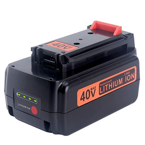 Biswaye 3.0Ah 40V Max Battery Compatible with Black & Decker 40V Max Lithium Battery LBXR36 LBX2040 LBXR2036 LBX1540 LBX2540 Tools LST136 LHT2436B LSW36 LCC340C LCS1240B