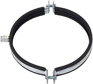 Abrazadera de tubo de 125 mm de diámetro, junta de goma, soporte para tubo de ventilador