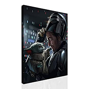 TV Show Mandalorian The Baby Yoda Star Wars Poster Canvas Wall Art Large for Living Room Prints Home Decor  Canvas Rolls,16 x20