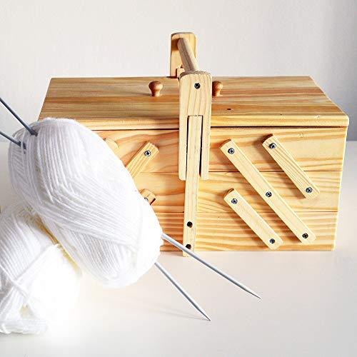 Boîte à couture de style classique avec 5 compartiments