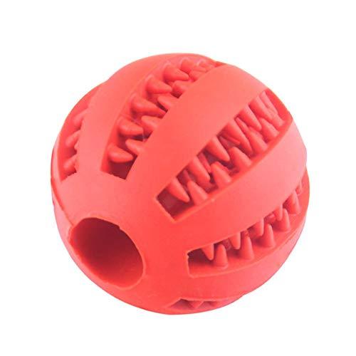 dingdang huisdier molar speelgoed behandelen bal rubber hond molar speelgoed bal molar bal bijten schone tanden lekken voedsel hond molar kauwen bal, Rood