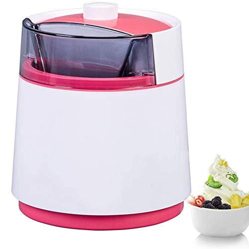 WAWB 800 ML Elektrische Eismaschine, Mit Kompressor-Frozen Yogurt-Milchshake Maschine-Flaschenkühler, Geeignet Für EIS Milchshake Usw Red,Blau