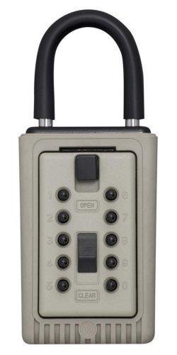 Kidde AccessPoint 001404 KeySafe - Caja de seguridad portátil de 3 teclas con botón pulsador de botón
