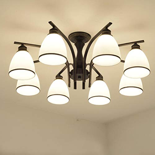 Joypeach Led Retro Iron Living Room Ceiling Lights Fixtures Bedroom Ceiling Lights Flush Mount With 8 Lights Ceiling Lights For Kitchen 110v Buy Online In India At Desertcart In Productid 57787719