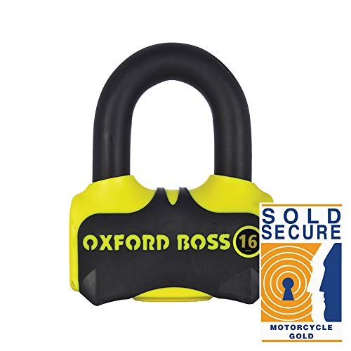 Motorcycle Oxford Boss 16 Disc Lock – Yellow UK Seller