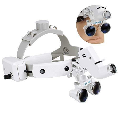 CARESHINE Dental Binocular Loupes Glasses Headband Magnifier with LED Light 3.5X-420 Optical(Ship from USA!)