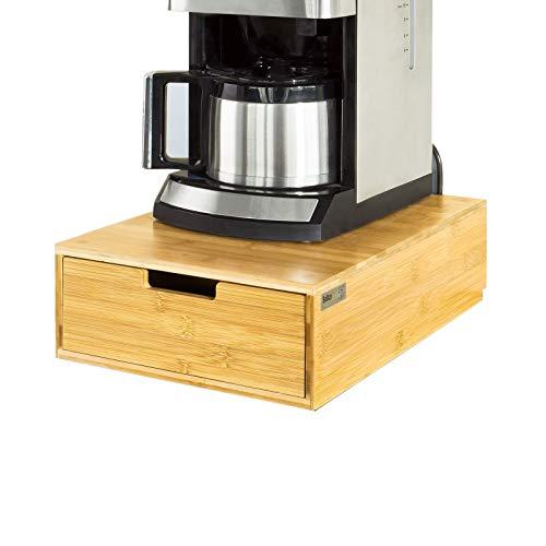SoBuy FRG83-N Kaffeekapsel Box Kapselspender Schreibtischorganizer Monitorständer Monitorerhöhung Kapselständer Bambus BHT ca.: 30x12x42cm