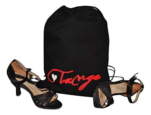 Sacca porta scarpe per il ballo fatta a mano. Artigianato made in Italy - Tango - unica - 100% cotone - 34cmx44cm - 6litri