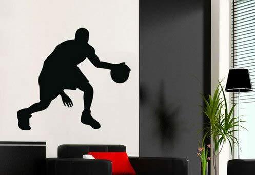 Yaonuli Passionate basketbalspeler waterdicht wandtattoos basketbal behang huishoudtextiel