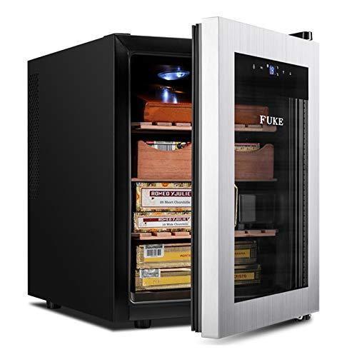 GFITNHSKI Humidor de cigarros, refrigerador de cigarros humidor, gabinete de Humor de cigarro Hecho a Mano con higrómetro Digital, humidor electrónico de cigarros, artículos