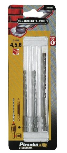 BLACK & DECKER X53053-XJ - Conjunto de brocas HSS para piedra ø 4, 5 y 6mm. Eje hexagonal